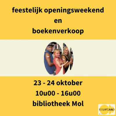 Feestelijk openingsweekend en boekenverkoop